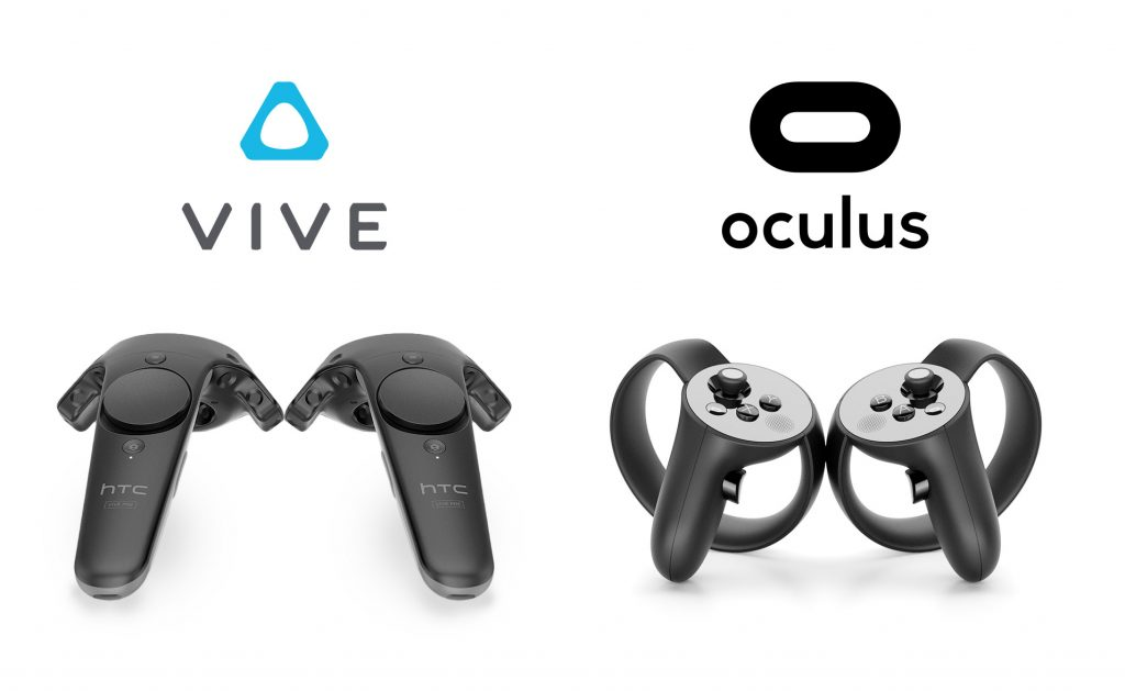 Oculus Rift Touch Controllers vs HTC Vive wands