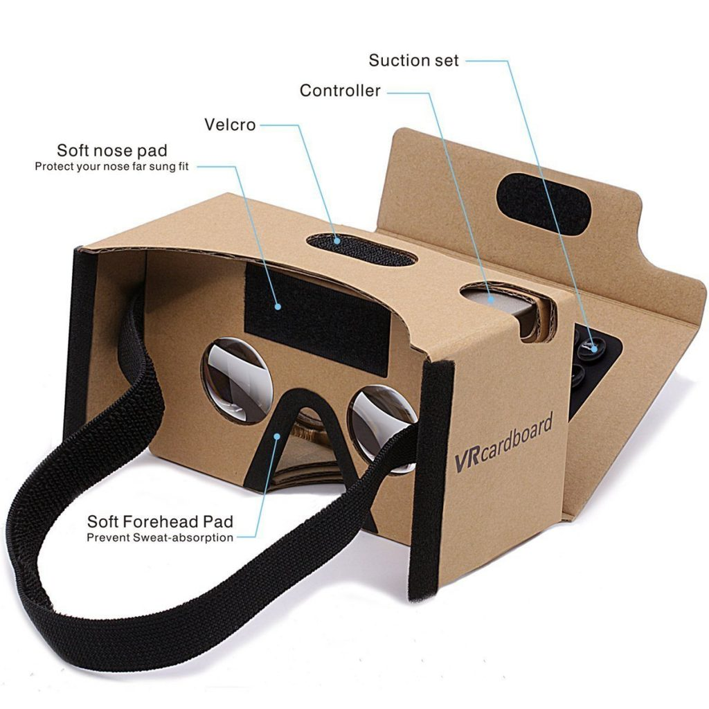 Google Cardboard GANA 3D VR Headset DIY Glasses Breakdown