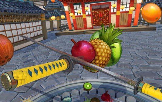 VR sword fighting games Fruit Ninja