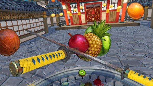 VR sword fighting games Fruit Ninja