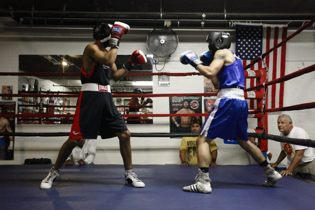 Boxer Sparring In Ring