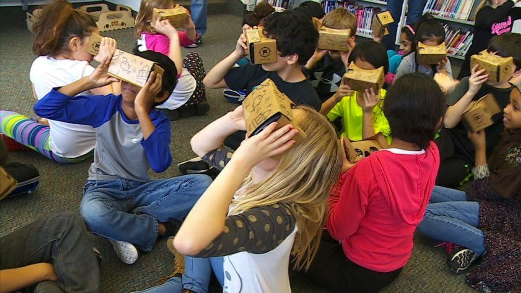 children use google cardboard