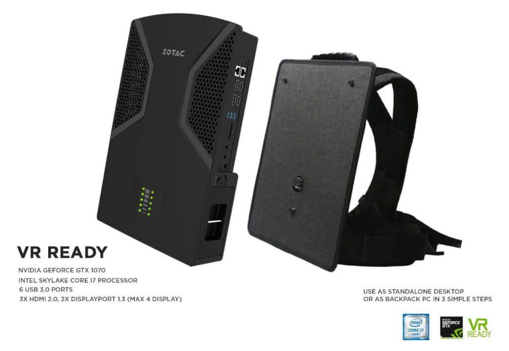 Zotac VR Go technical specs