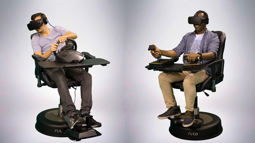 vr motion chairs roto-vr-with-elite
