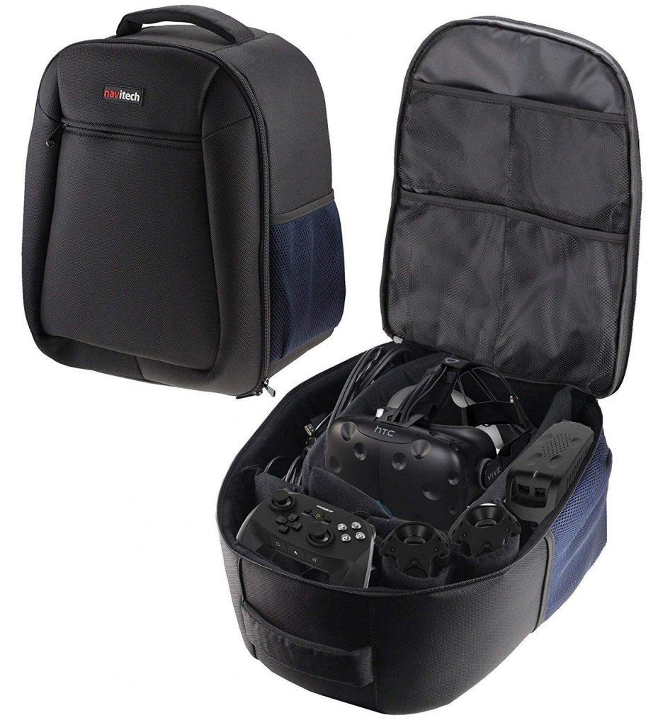 Navitech Rugged Black & Blue Backpack